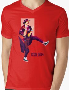 ICON 1984 Retro Mens V-Neck T-Shirt
