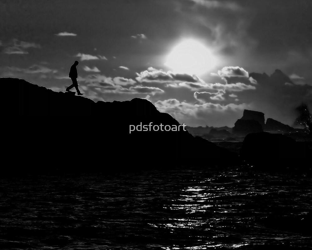 Sunset in BW by pdsfotoart