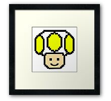 Pixel Yellow Toad Framed Print