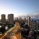 Surfers Paradise At Dusk. Gold Coast, Queensland, Australia. by Ralph de Zilva