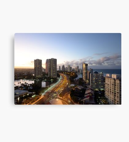 Surfers Paradise At Dusk. Gold Coast, Queensland, Australia. Canvas Print