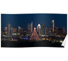 Christmas Lights in Austin Poster