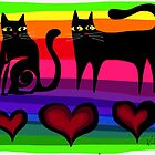colourful cats paper 53 by Karin Zeller