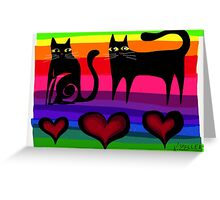 colourful cats paper 53 Greeting Card