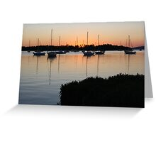 Bay view of beautiful sunset Greeting Card
