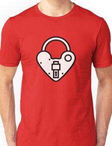 Loveheart Lock - love heart padlock T-Shirt