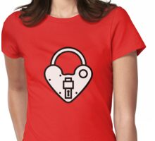 Loveheart Lock - love heart padlock Womens Fitted T-Shirt
