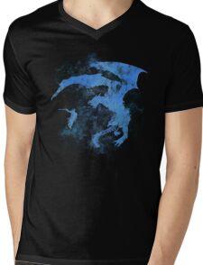 Dragonfight-cooltexture Inverted Mens V-Neck T-Shirt