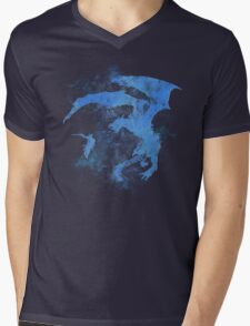 Dragonfight-cooltexture Inverted Mens V-Neck T-Shirt