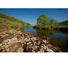 Scene on the River Wharfe Photographic Print