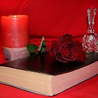 Rose,book,candle & Bell by TeAnne