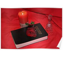 Rose,book,candle & Bell 2 Poster