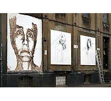 Chisel face by Vhils Photographic Print