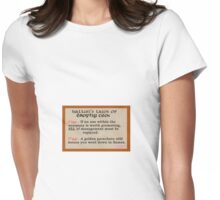 Kallun's laws of trophy ceos Womens Fitted T-Shirt