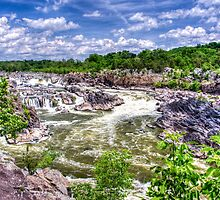 Great Falls Park -  Waterfalls by impulsiveart