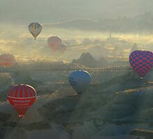 Light, Shadows, Mist and Balloons. by mikejctoh