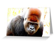 Leaning Gorilla Greeting Card
