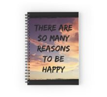 To Be Happy Spiral Notebook