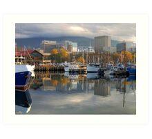 Reflections of Hobart Art Print