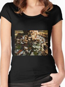 My Favorite Fungus Tree Women's Fitted Scoop T-Shirt