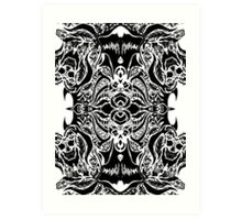 Zentangled Chaos Art Print
