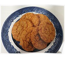 Oat Flake and Honey Crunchy Biscuits Poster