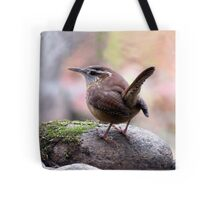 Carolina Wren with Perky Tail Tote Bag