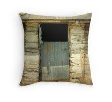 Barn Door at Finsthwaite Farm Throw Pillow
