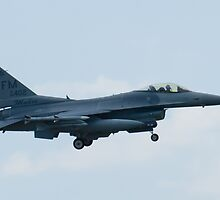 FM AF 88 0402 F-16C Fighting Falcon On Approach by Henry Plumley