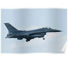 FM AF 88 0402 F-16C Fighting Falcon On Approach Poster