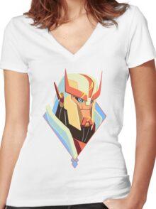 Grumpasaurus Rex Women's Fitted V-Neck T-Shirt