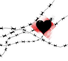 Barbed Wire Heart by stobi