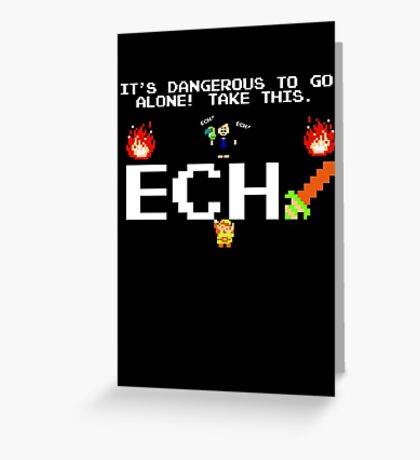 JonTron- It's Dangerous to go alone! Greeting Card