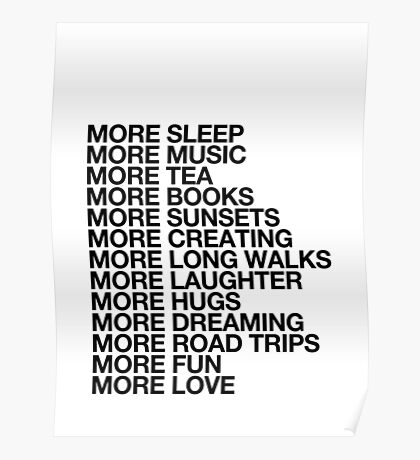 More Love. Poster