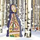 Winter in the birch woods by goanna