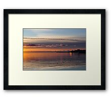 sun setting on galway, eire Framed Print
