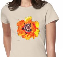 Red Poppy T Shirt Womens Fitted T-Shirt