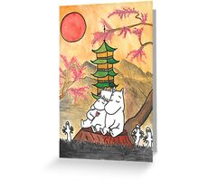 Moomin Love in Japan Greeting Card