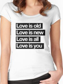 Love Is All. - The Beatles. Women's Fitted Scoop T-Shirt