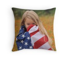 Giggly Patriot Throw Pillow