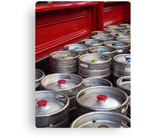 Beer kegs Canvas Print