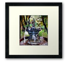 Fountain in the park Framed Print