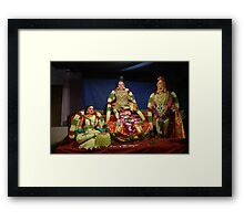 Dolls of deities from India Framed Print