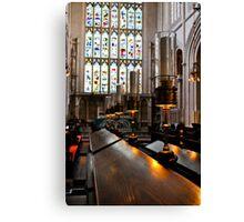 lamps, bath abbey, england Canvas Print
