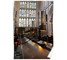 lamps, bath abbey, england Poster