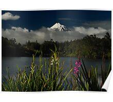 Lake Flowers Poster