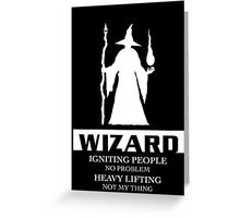 Wizard Inverted Greeting Card