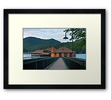 A Building From the Past Framed Print