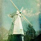English windmill in countryside by friendlydragon