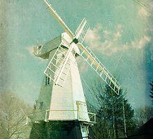 English windmill in countryside by friendlydragon